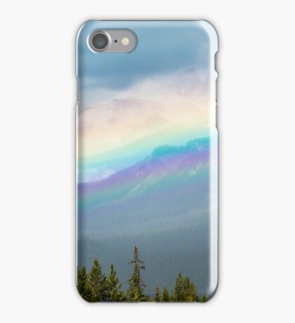 Rainbow Over the Icefields Parkway  iPhone Case/Skin