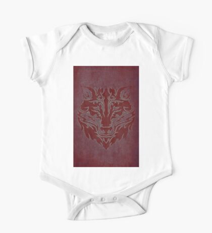 Tribal Wolf Red One Piece - Short Sleeve