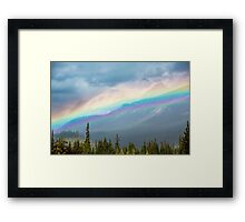 Rainbow Over the Icefields Parkway  Framed Print