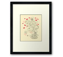 zen cup of tea with love Framed Print