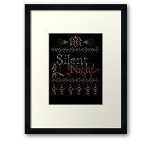 Silent Night ugly christmas Framed Print