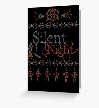 Silent Night ugly christmas Greeting Card