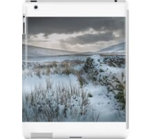 Snow covered stone wall, Brecon Beacons. iPad Case/Skin