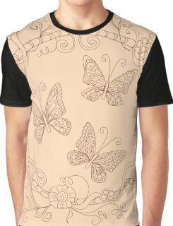 zen butterfly into floral mandala Graphic T-Shirt