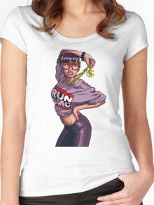 Hip Hop Hood Honey art Women's Fitted Scoop T-Shirt
