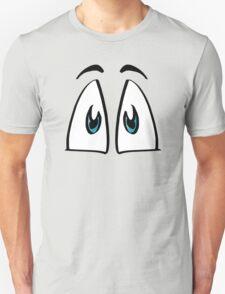 Cartoon Eyes Print - Cheerful T-Shirt
