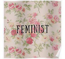 Feminist Floral Poster