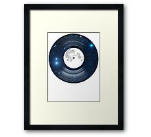 Vinyl space Framed Print