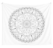 Fashionable oriental mandala design with trees of life Wall Tapestry