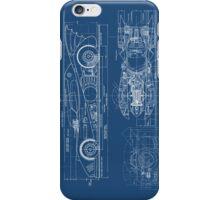 Batmobile Blueprint iPhone Case/Skin