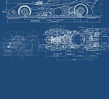 Batmobile Blueprint by hordak87