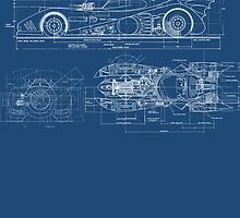 Batmobile Blueprint by hordak87