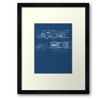 Batmobile Blueprint Framed Print