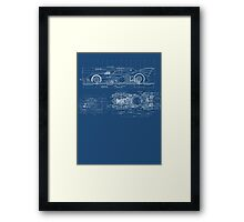 Batmobile Blueprint Framed Print