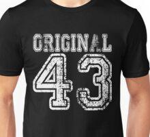 Original 43 1943 2043 T-shirt Birthday Gift Age Year Old Boy Girl Cute Funny Man Woman Jersey Style Unisex T-Shirt