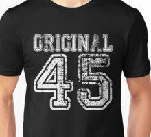 Original 45 1945 2045 T-shirt Birthday Gift Age Year Old Boy Girl Cute Funny Man Woman Jersey Style Unisex T-Shirt