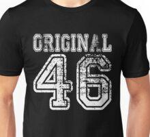 Original 46 1946 2046 T-shirt Birthday Gift Age Year Old Boy Girl Cute Funny Man Woman Jersey Style Unisex T-Shirt