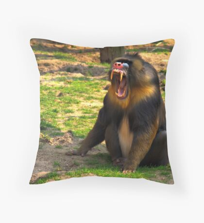 A Boring Day - Mandrill Throw Pillow