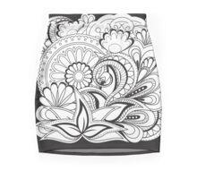 black&white zen composition  Mini Skirt