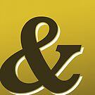 Gold & Brown Ampersand / Typographic Design by Kelsorian