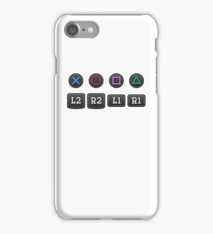 PS4 Controller Buttons iPhone Case/Skin