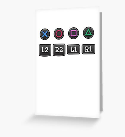 PS4 Controller Buttons Greeting Card