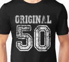 Original 50 2050 1950 T-shirt Birthday Gift Age Year Old Boy Girl Cute Funny Man Woman Jersey Style Unisex T-Shirt