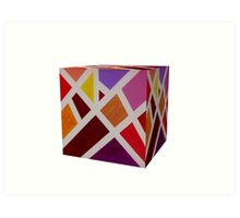 A Cube of Piet's Abstract Art Print