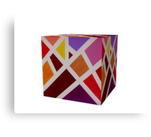 A Cube of Piet's Abstract Canvas Print