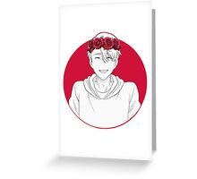 Viktor Nikiforov Flower Crown Greeting Card
