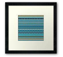 Tribal striped abstract pattern design by Somberlain Framed Print