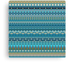 Tribal striped abstract pattern design by Somberlain Canvas Print