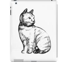 Cat hand drawn effect iPad Case/Skin