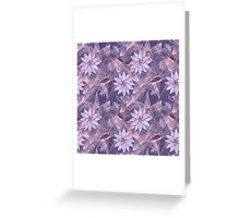 The floral pattern. Lilac flowers on abstract background. Greeting Card