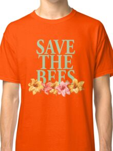 Save The Bees Floral Classic T-Shirt