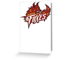 District 5 Power Foxes Greeting Card