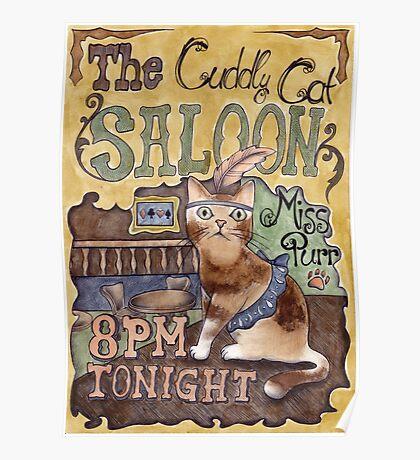 Cat Saloon Poster