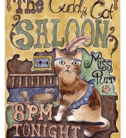 Cat Saloon Sticker