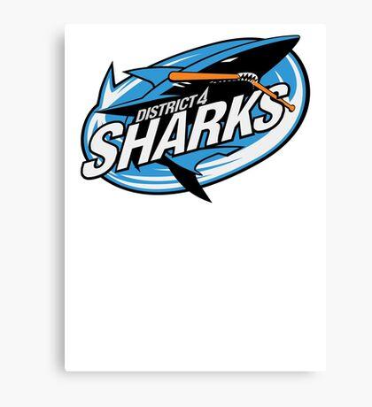 District 4 Sharks Canvas Print