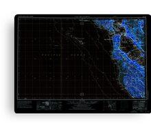 USGS TOPO Map California CA San Francisco 302119 1956 250000 geo Inverted Canvas Print
