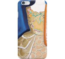 Orange Curly Ribbon iPhone Case/Skin