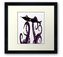 20,000 Leagues Under the Sea Squid Attack Framed Print