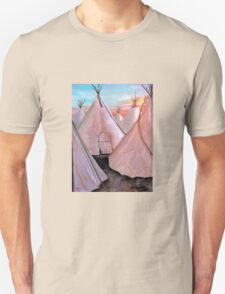 """""""Tepees at Sunset"""" T-Shirt"""