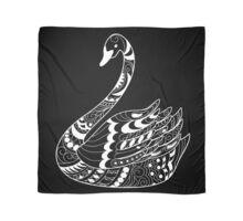 zen swan on black Scarf