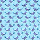 Watercolor Bird Pattern by SaradaBoru