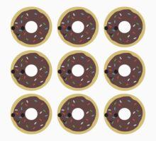 Cute Chocolate glazed donut pattern Baby Tee