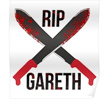The Waling Dead RIP Gareth Poster