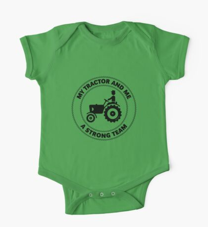 My Tractor And Me – A Strong Team (Black) One Piece - Short Sleeve