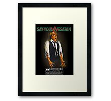 Say You Love Satan 80s Horror Podcast - Scanners Framed Print