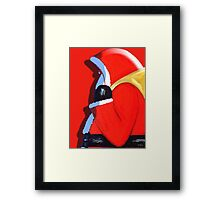 SANTA'S BACK Framed Print